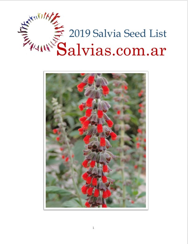 SALVIA SEED LIST 2019 AVAILABLE UPON REQUEST